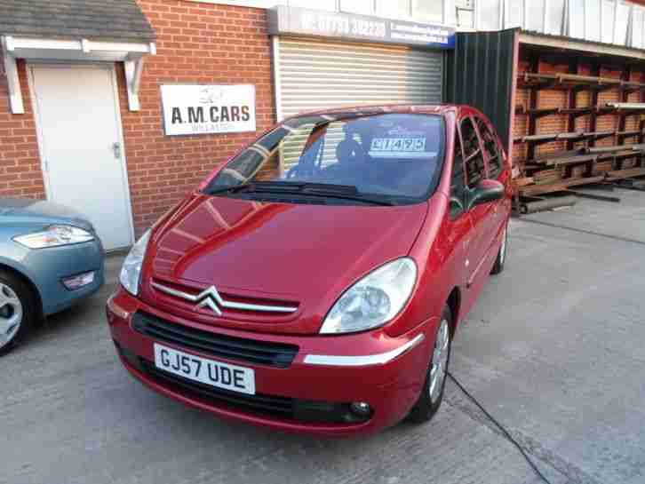 2007 57 REG CITROEN PICASSO VTX 1.6 16 VALVE PETROL 5 DOOR IN METALLIC RED