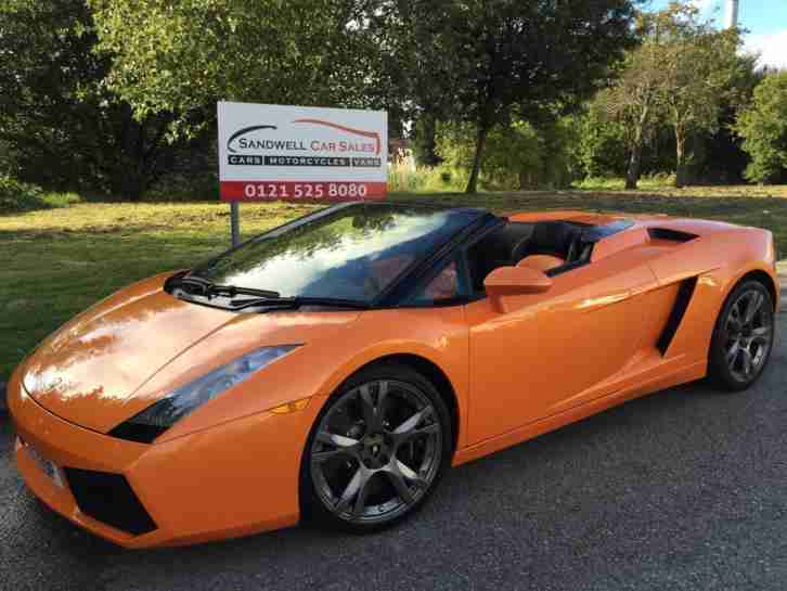 2007 57 REG LAMBORGHINI GALLARDO 5.0 V10 SPYDE E-GEAR 4WD # 1 OWNER # HIGH SPEC