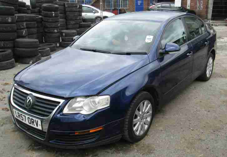 2007 57 vw passat 1 9 tdi se in metallic blue cat d car for sale. Black Bedroom Furniture Sets. Home Design Ideas