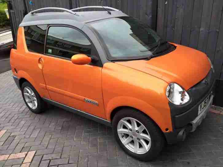 2007 aixam crossline super luxe orange 500cc mini car mot june 2016