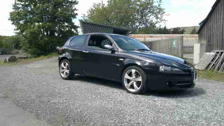 alfa romeo 2007 147 q2 jtdm 16v black car for sale