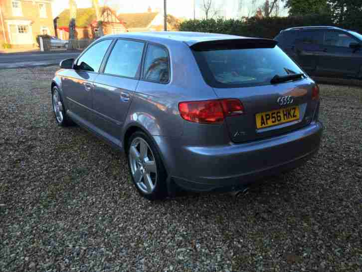 2007 AUDI A3 S LINE 2.0 TDI 170 SILVER/GREY MET HALF LEATHER IMMAC CONDITION