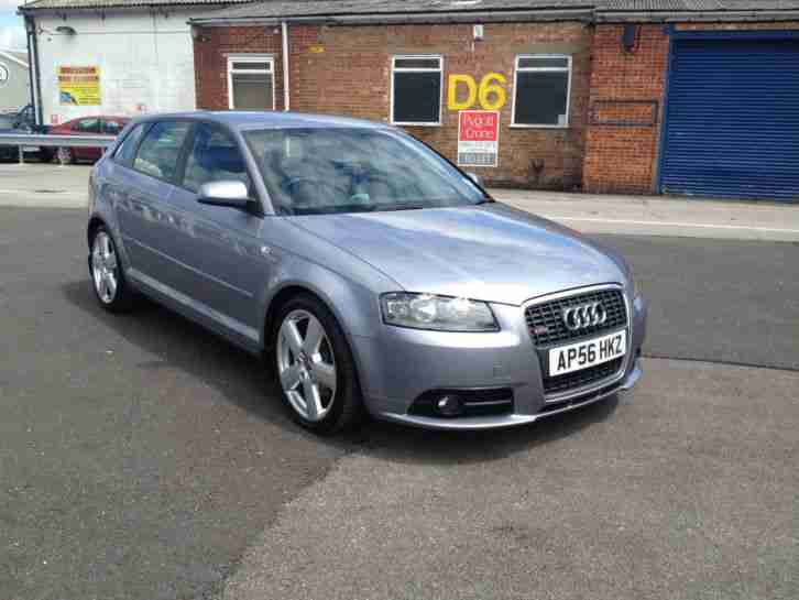 audi 2007 a3 s line 2 0tdi 170 s back metallic silver grey in exc. Black Bedroom Furniture Sets. Home Design Ideas