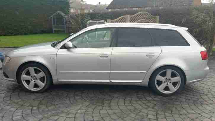audi 2007 a4 avant s line tdi 140 silver car for sale. Black Bedroom Furniture Sets. Home Design Ideas