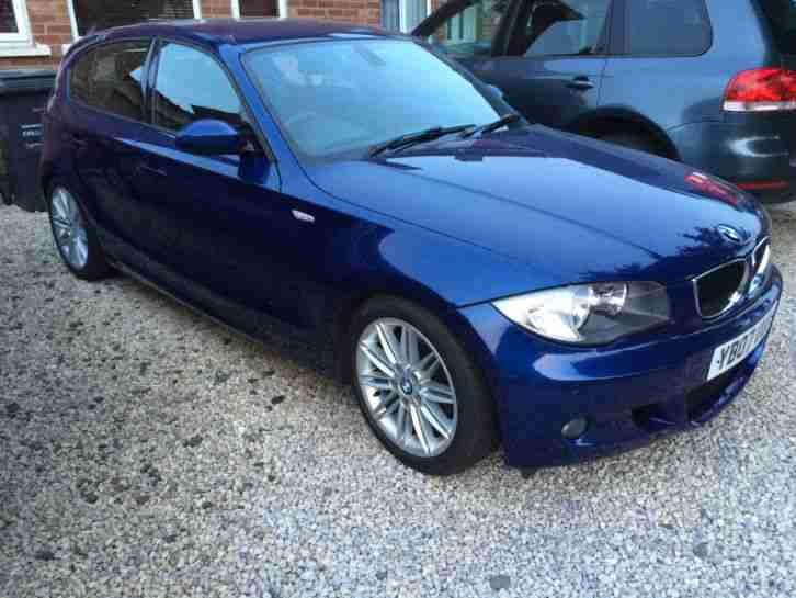 bmw 2007 1 series 118d m sport 2 0 manual diesel blue car for sale. Black Bedroom Furniture Sets. Home Design Ideas