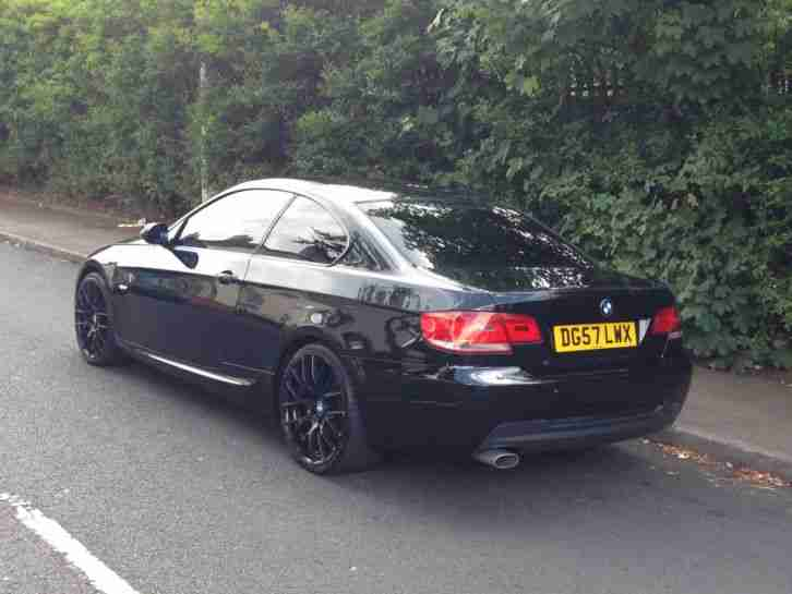 bmw 2007 320d coupe m sport black low mileage car for sale. Black Bedroom Furniture Sets. Home Design Ideas