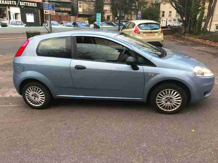2007 Blue Fiat Grande Punto 1.2 Active with 120,000 Miles