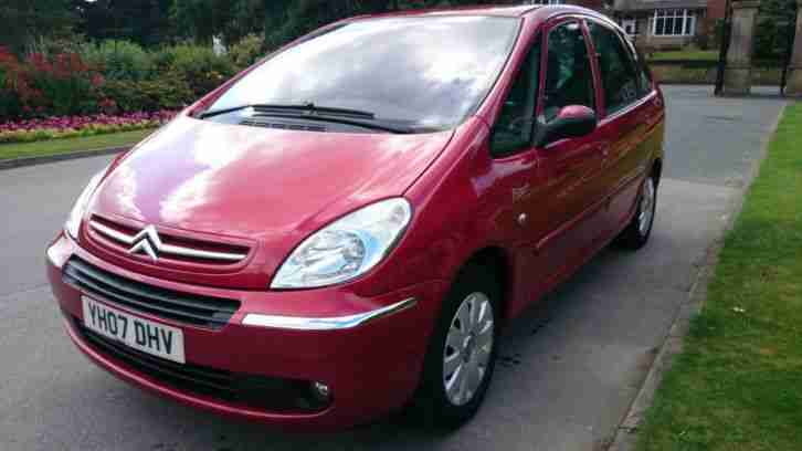 citroen 2007 xsara picasso vtx hdi red 1 6l turbo diesel perfect. Black Bedroom Furniture Sets. Home Design Ideas