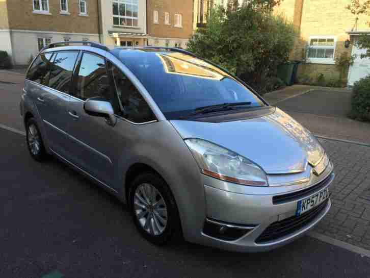 citroen 2007 grand c4 picasso 1 6 hdi 16v exclusive egs 5dr silver. Black Bedroom Furniture Sets. Home Design Ideas