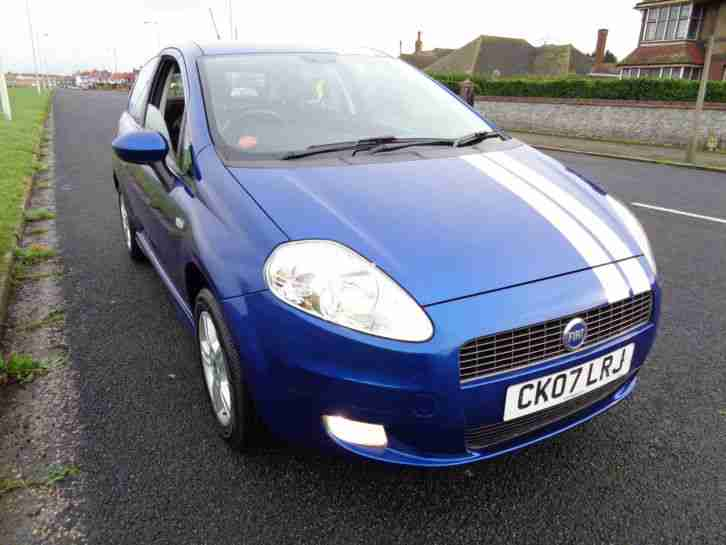 Fiat 2007 Grande Punto Active Blue White Stripes Car For Sale