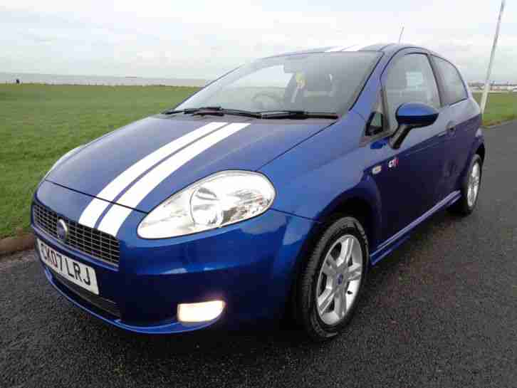fiat 2007 grande punto active blue white stripes car for sale. Black Bedroom Furniture Sets. Home Design Ideas