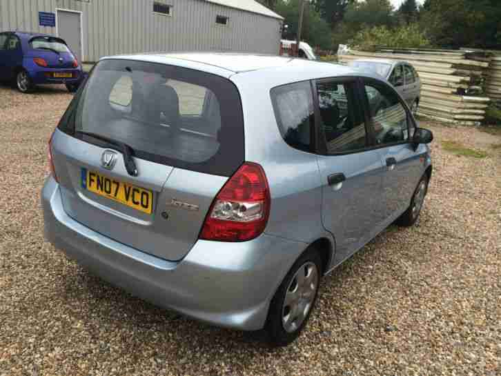 2007 HONDA JAZZ 1.2 i-DSi S. BLUE. LONG MOT! BARGAIN!