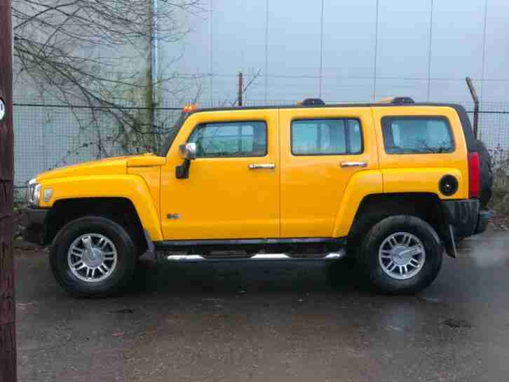 2007 HUMMER H3 3.5 YELLOW MODIFIED LHD FRESH IMPORT CHOICE OF 2 AMERICAN SUV