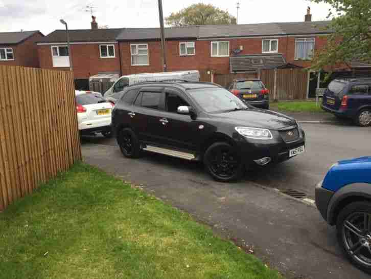 2007 HYUNDAI SANTA FE CDX CRTD A BLACK 7 seater 4x4 full black leather