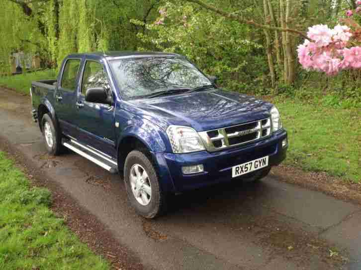 2007 ISUZU TRUCK BLUE 57 PLATE RODEO D MAX LTD EDITION 4 X 4 AUTOMATIC, TOWBAR