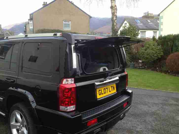 2007 JEEP COMMANDER LIMITED CRD A BLACK