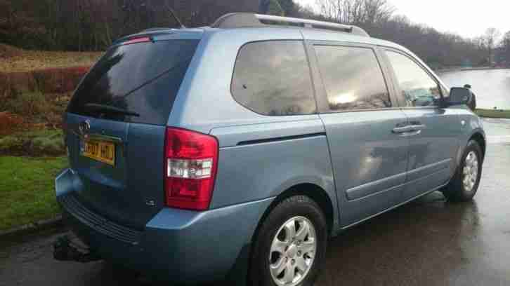 2007 KIA SEDONA LS IN BLUE, STUNNING VEHICLE, FULL MOT, FULL SERVICE HISTORY
