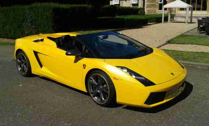 2007 LAMBORGHINI GALLARDO SPYDER AUTO RARE EDITION WITH CARBON CERAMIC BRAKES