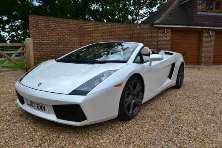 Lamborghini 2007 Gallardo Spyder Auto White Car For Sale