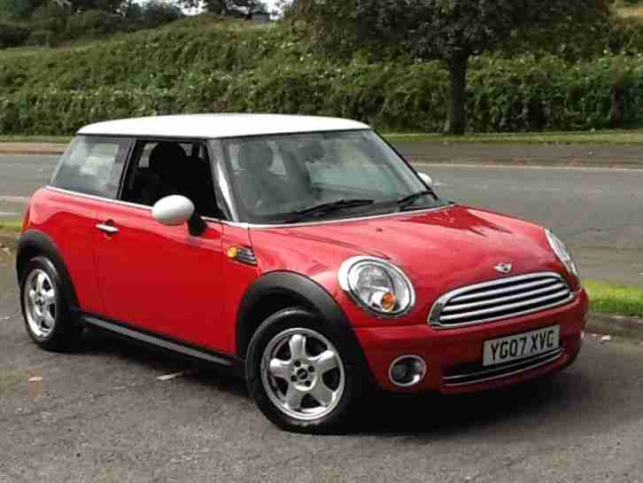 Mini Cooper Safety Rating >> Mini 2007 COOPER RED WITH WHITE ROOF FACE LIFT MODEL INDICATOR. car for sale