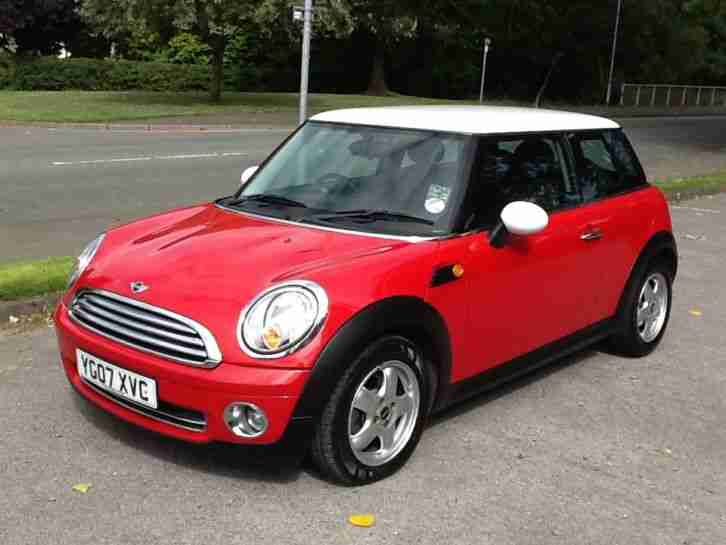 Mini 2007 Cooper Red With White Roof Face Lift Model
