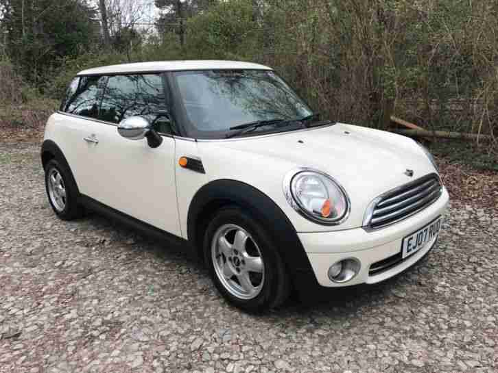 2007 Mini One 1.4 White Full Service History Half Leather Chill Pack
