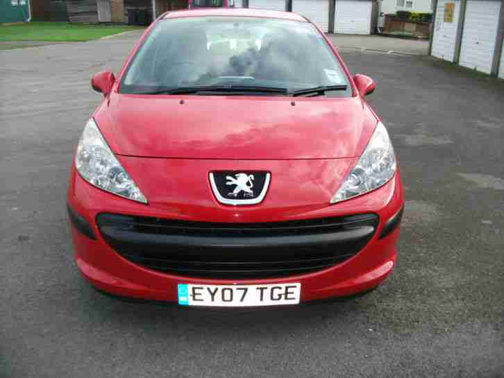 2007 peugeot 207 s 1 6 hdi 90 red 2007 car for sale. Black Bedroom Furniture Sets. Home Design Ideas