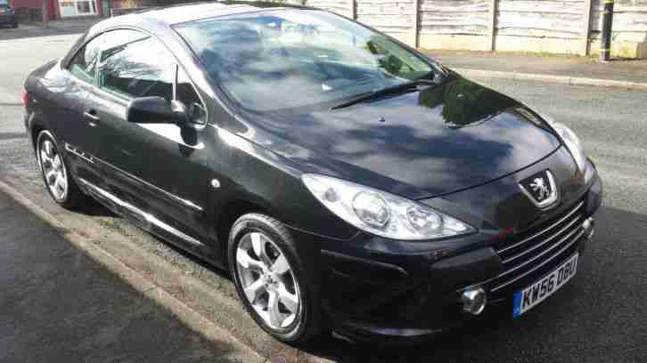peugeot 2007 307 cc s 2 0l black low mileage and 1 previous owner with. Black Bedroom Furniture Sets. Home Design Ideas