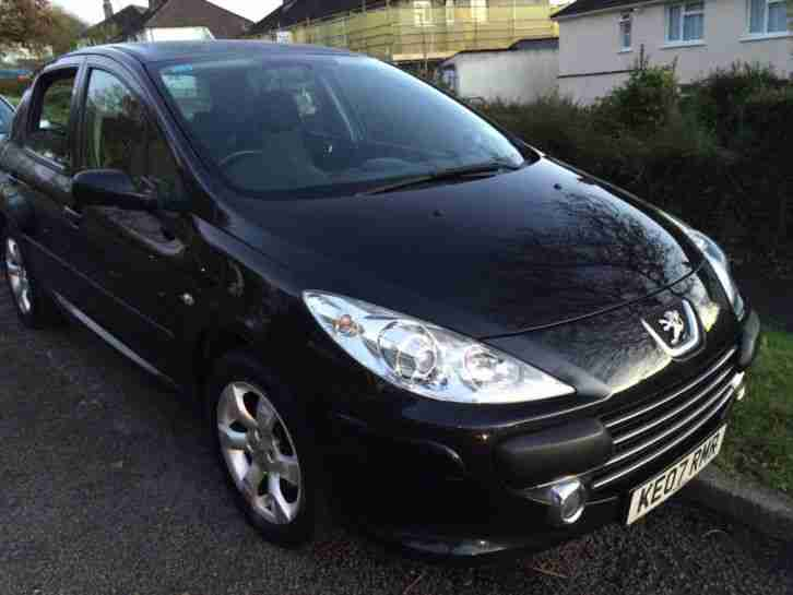 peugeot 2007 307 s hdi 110 black low mileage f s h new turbo clean. Black Bedroom Furniture Sets. Home Design Ideas