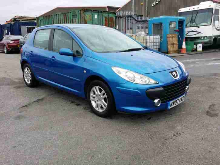 peugeot 2007 307 x line blue 12 month mot aircon alloys lovely. Black Bedroom Furniture Sets. Home Design Ideas