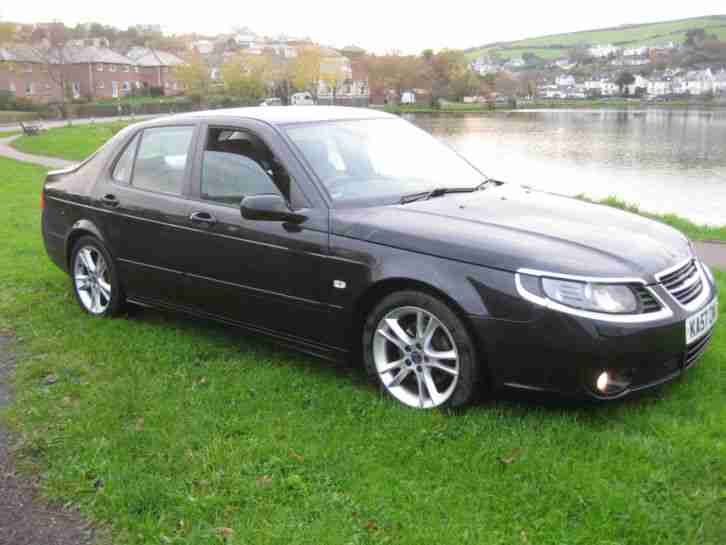 2007 SAAB 9-5 VECTOR SPORT 2.0T TURBO BLACK LEATHER LOW MILES FSH NEW MOT