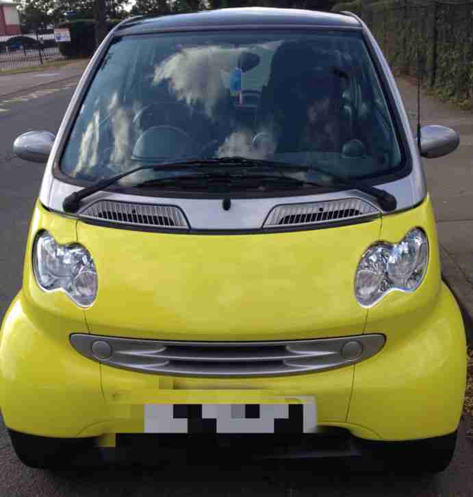 2007 SMART CAR FORTWO CITY PASSION 61 AUTO YELLOW