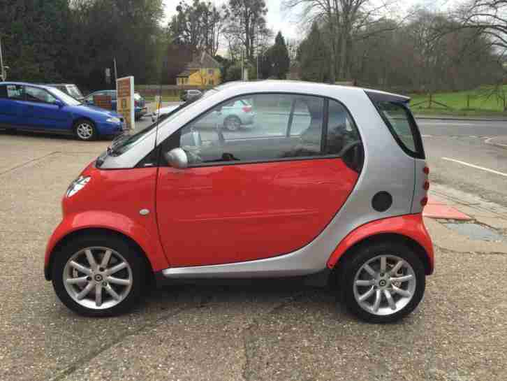 2007 SMART CITY PASSION AUTO 0.7cc Red/Silver 20083 Miles WARRANTED £30 Road Tax