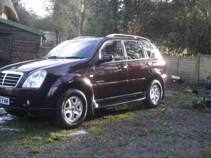 2007 SSANGYONG REXTON 270 SX 5S AUTO MAROON