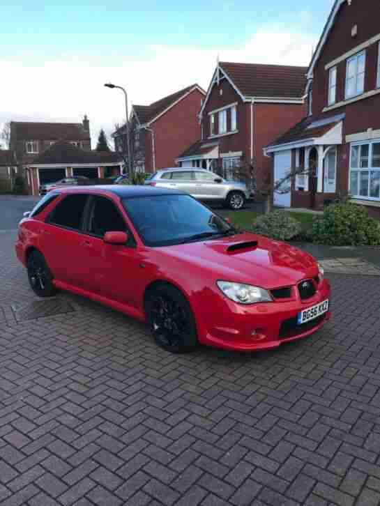 2007 SUBARU IMPREZA 2.5 WRX 5 DOOR ESTATE RED 93000 MILES FULL SERVICE HISTROY