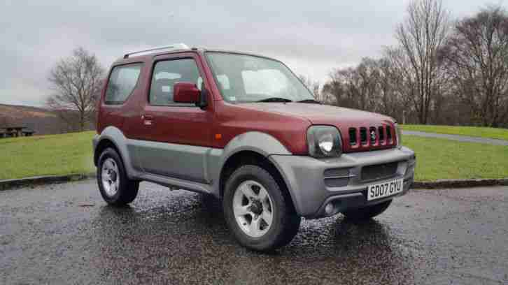 2007 SUZUKI JIMNY VVT RED ONE OWNER FSH 4x4 four wheel drive
