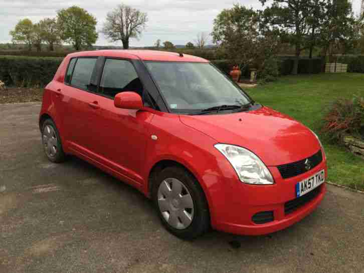 2007 SWIFT 1.3 GL RED 5 DOOR 63K MILES
