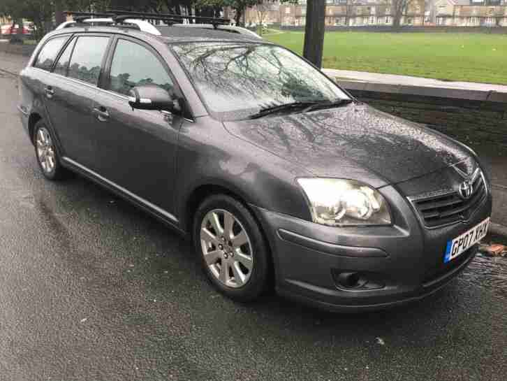 2007 Toyota Avensis estate manual 1.8 VVT i T3 X 5 door grey immaculate body