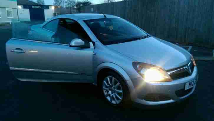 2007 VAUXHALL ASTRA TWIN TOP SPORT SILVER convertible mot 1.6