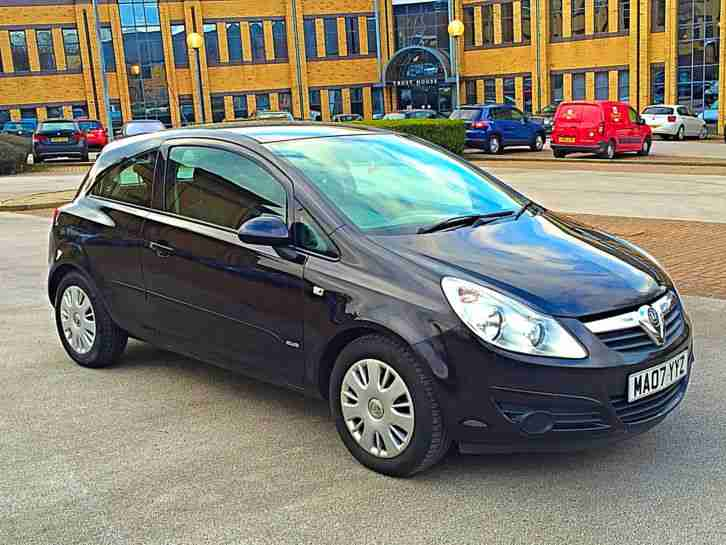 2007 vauxhall corsa 1 4 club black 3 door immaculate. Black Bedroom Furniture Sets. Home Design Ideas