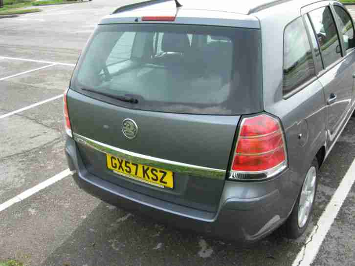 2007 VAUXHALL ZAFIRA CLUB GREY 7 SEATER