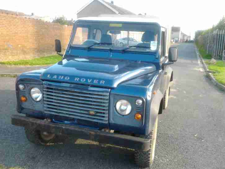 2007 land rover defender 90 tdci pickup damaged salvage. Black Bedroom Furniture Sets. Home Design Ideas