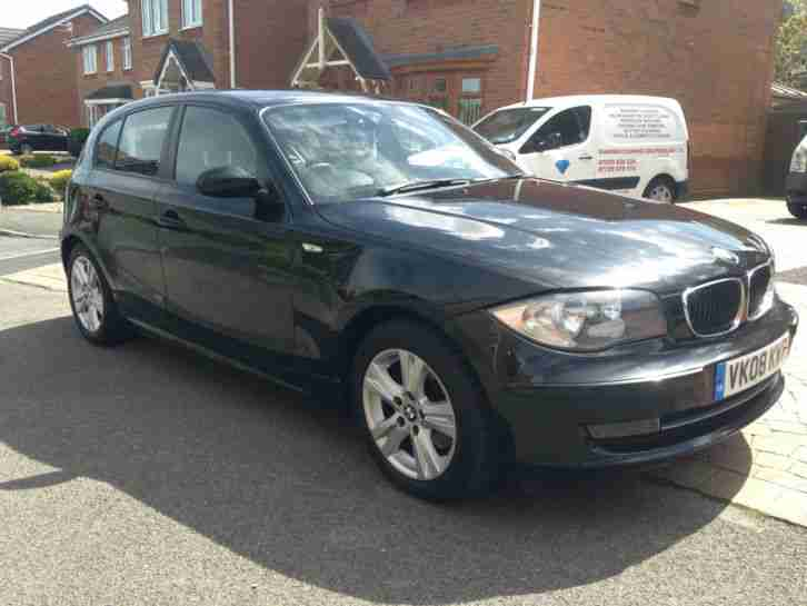 2008 08 BMW 120D SE TURBO DIESEL 5 DOOR 1 SERIES SHINY BLACK AIRCON BLUETOOTH