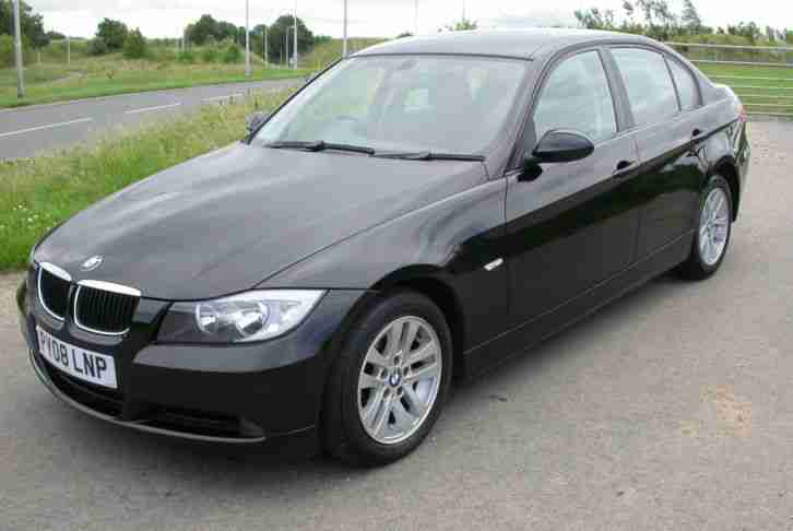 2008/08 BMW 318D ES 4 DOOR SALOON IN BLACK 2.0 DIESEL ONLY 67K MILES 143 BHP