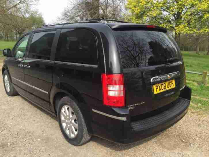 2008 08 CHRYSLER GRAND VOYAGER 2.8 CRD LIMITED 5D AUTO 161 BHP BRILLIANT BLACK,