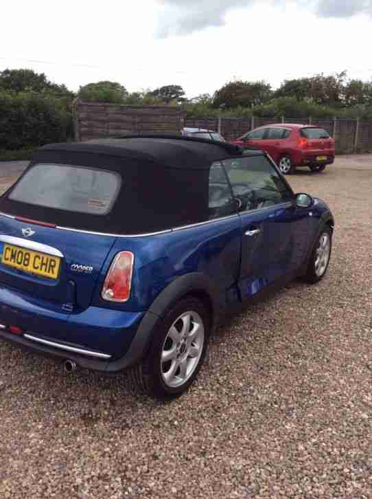"2008 ""08"" Damaged repairable Mini Cooper convertible with only 59,000miles!"