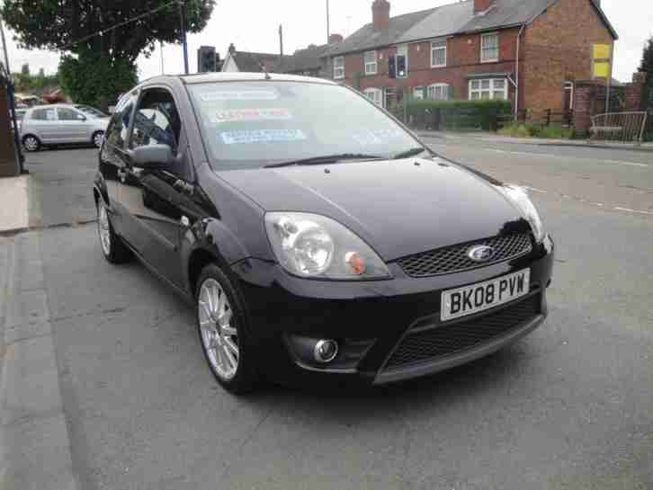 2008 08 FORD FIESTA 1.6 TDCI ZETEC S IN METALLIC BLACK FULL SERVICE HISTORY