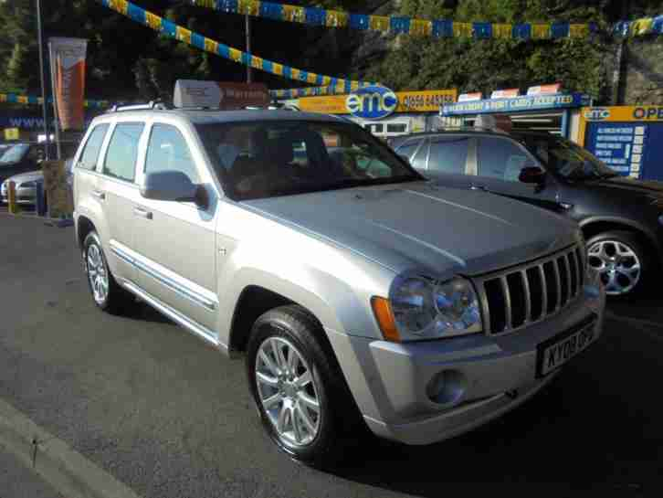 2008 08 JEEP GRAND CHEROKEE 3.0 V6 CRD AUTO OVERLAND IN SILVER # GREAT SPEC #