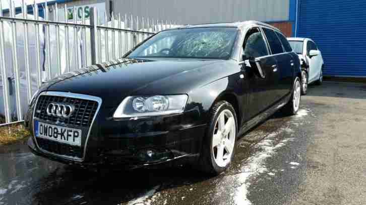 2008 08 REG AUDI A6 ESTATE S LINE 2.0TDI TURBO DIESEL DAMAGED REPAIRABLE SALVAGE