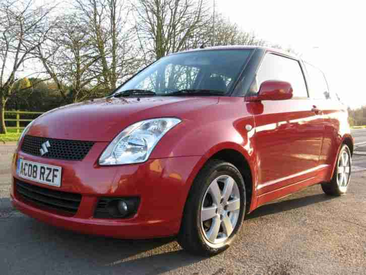 2008 08 Suzuki Swift 1.5 GLX 3DR AIR CONDITIONING RADIO CD ALLOY WHEELS